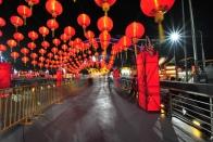 Lanterns at night